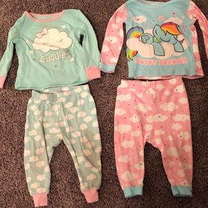 Other - Infant baby girl two piece pajamas